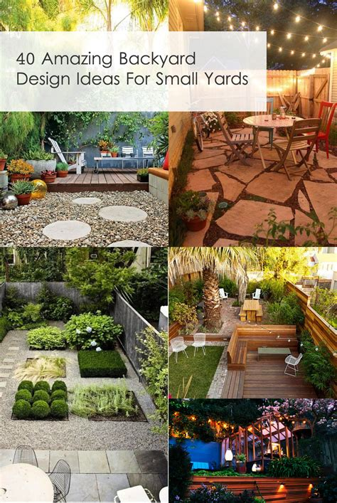 40 Amazing Design Ideas For Small Backyards | 40 amazing design ideas for small backyards