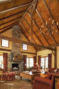 vaulted ceilings rustic vaulted ceiling house plans