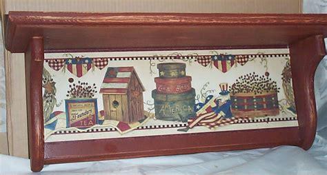 americana country home decor americana wood wall shelf folk art decor home kitchen