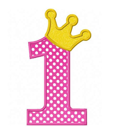 Crown 4 In 1 By Mithashop instant number 1 with crown applique machine