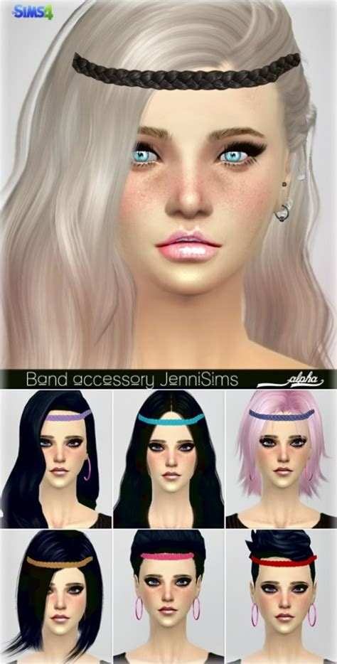 flowers bow headband at jenni sims 187 sims 4 updates jenni sims new mesh accessory hair band sims 4 downloads