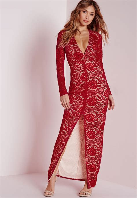 Longdress Maxi Dress missguided lace sleeve maxi dress in lyst