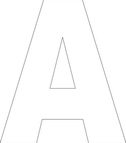 Alphabet Templates On Pinterest Alphabet Stencils Letter Templates And Free Printable Stencils Alphabet Templates