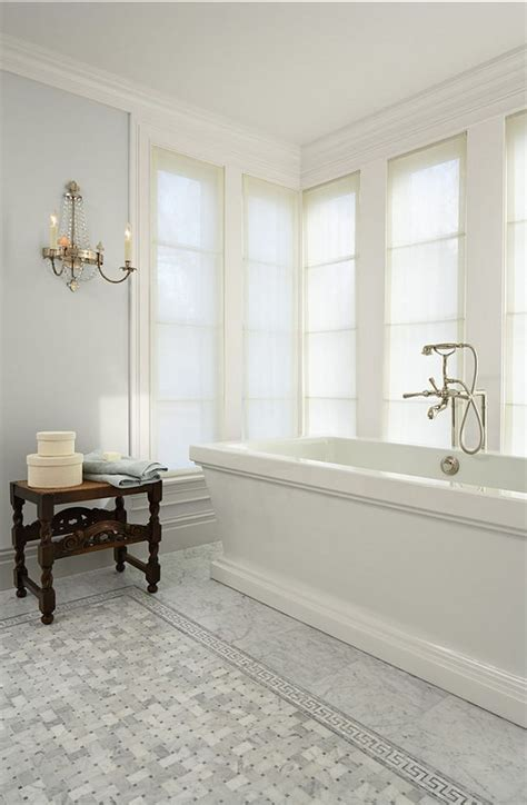 white bathroom floor tile ideas 30 cool ideas and pictures of farmhouse bathroom tile