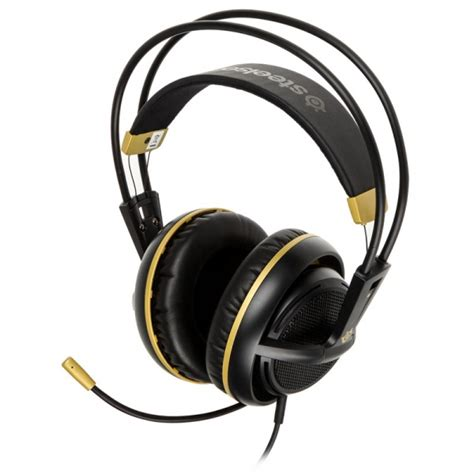 Headset Gaming Steelseries Headset Siberia 200 Black steelseries siberia 200 gaming headset alchemy gold gapl 691 from wcuk