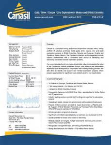 Company Fact Sheet by Corporate Fact Sheet Canasil Resources Inc