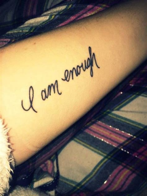 i am enough tattoo beautiful beautiful tattoos and disorders on