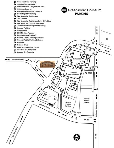 Greensboro Coliseum Floor Plan by Greensboro Coliseum Guide By Stamey S Barbecue Restaurant