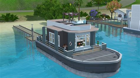 houseboats sims 3 the sims 3 house boat building ss titanic speed build