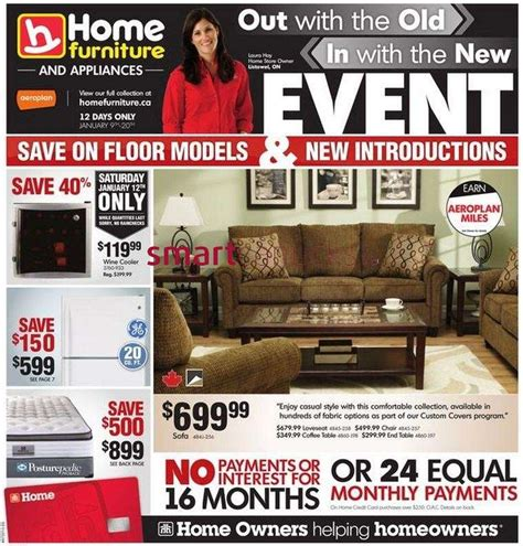 home furniture flyer jan 9 to 20