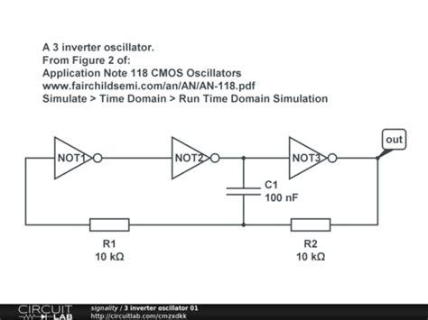 inverter oscillator circuit diagram 3 inverter oscillator 01 circuitlab