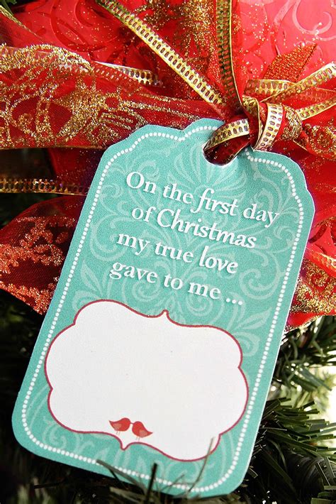 12 days of christmas gift tags family home 12 days of gift tag printables