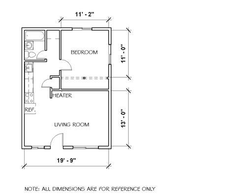 1 bedroom house floor plans one bedroom cottage floor plans
