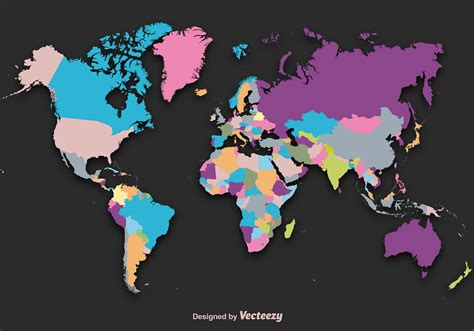 world cities map vector world map silhouette vector free vector