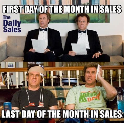 1st Of The Month Meme - last day of the month the daily sales