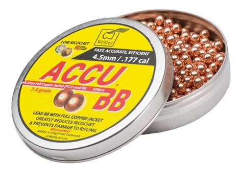 Bb Plastik 4 5mm webley accu bb 4 5mm copper coated lead bbs