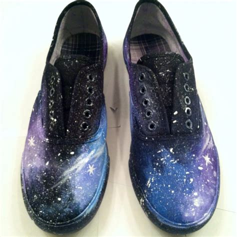 does acrylic paint work on canvas shoes diy galaxy from shoes to shirt and everything in