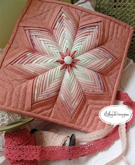 Folded Patchwork Patterns - 175 best images about folded fabric projects on
