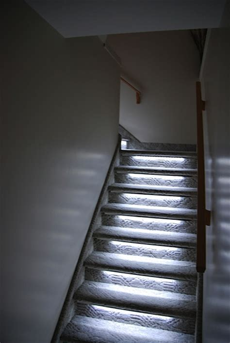 led strip lights for stairs under stairs lighting