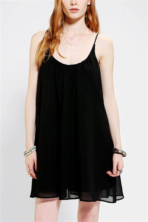 swing slip dress sparkle fade chiffon swing slip dress urban outfitters