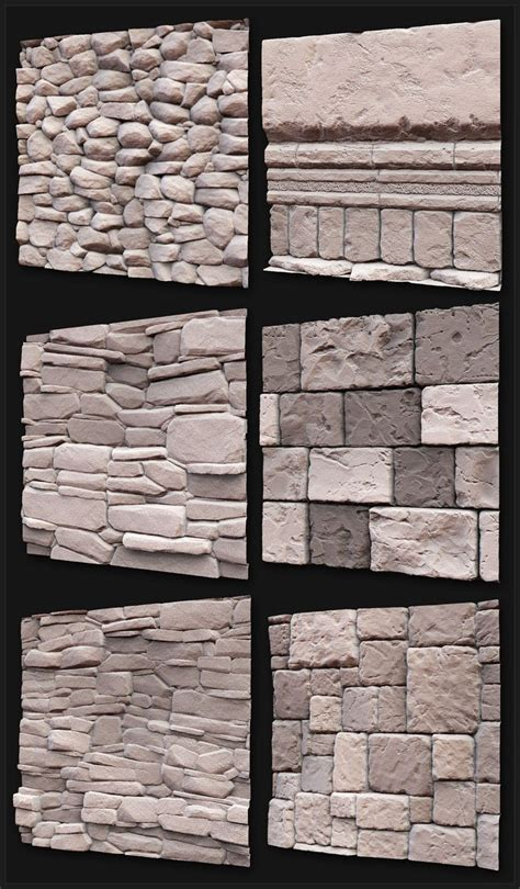 zbrush brick tutorial 37 best textures sculpted images on pinterest game art