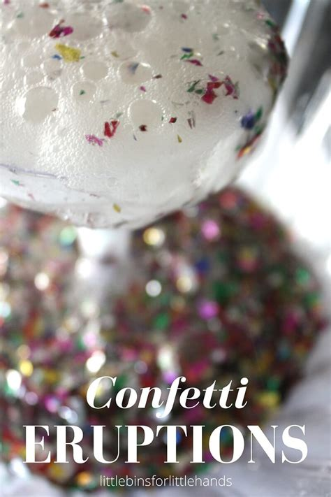 new year baking activities confetti science eruptions new years activity