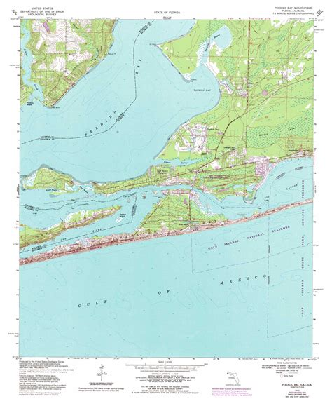 where is perdido key florida on the map perdido bay topographic map fl al usgs topo 30087c4