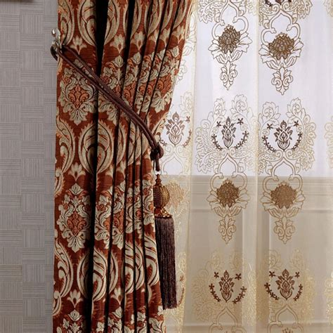 patterned blackout drapes european style embossed floral patterned suede blackout