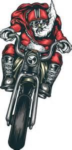 santa on a motorcycle clipart motorcycle santa