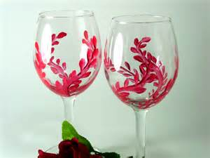 Painted Wine Glasses And Home Painted Wine Glasses And More