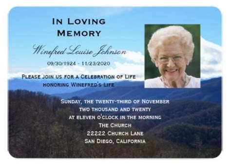free funeral invitation card template memorial service announcement template free templates