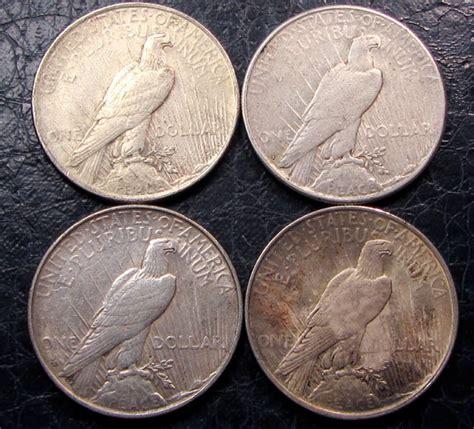 1 dollar silver coin 1922 1922 23 four peace dollar silver coins co1612