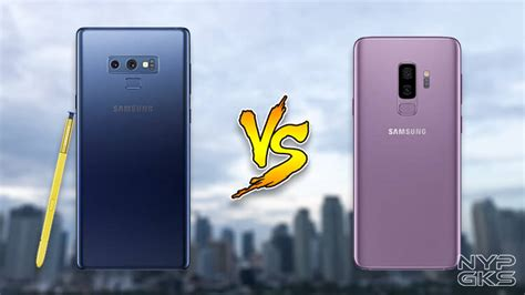 samsung galaxy note 9 vs galaxy s9 plus specs comparison noypigeeks