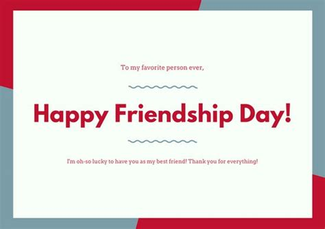 Friendship Day Card Template by Customize 5 094 Card Templates Canva