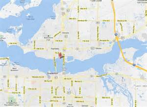 map of palmetto florida pegel point map