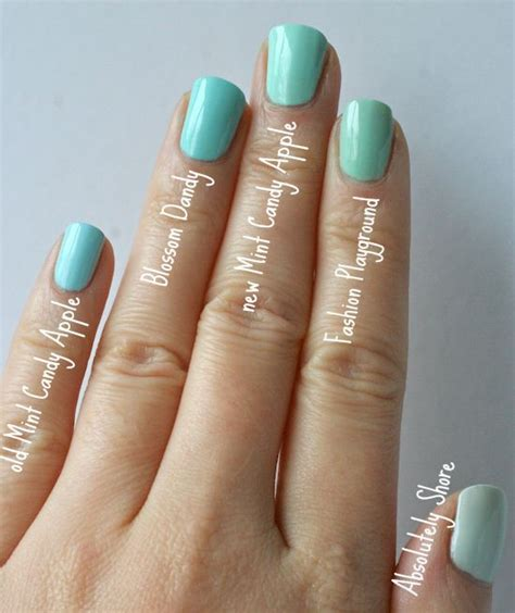 7 Most Fashionable Nail Polishes Of Today by Best 25 Mint Apples Ideas On Essie Mint