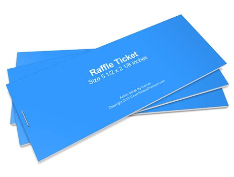Raffle Ticket Mockup Action Script Cover Actions Premium Mockup Psd Template Ticket Booklet Template