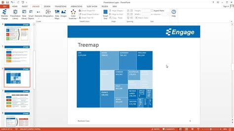 create tree map create a treemap using the engage powerpoint add in