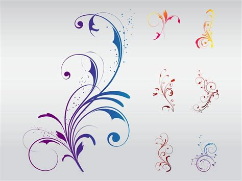 design flower with vector swirly floral designs vector art graphics freevector com