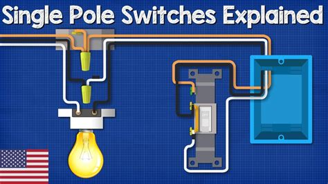 single pole switch lighting circuits   wire  light