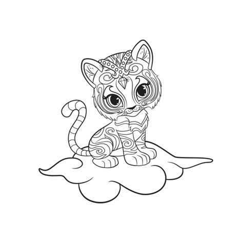 Shimmer And Shine Nahal Colouring Page Children Guppies Coloring Pages