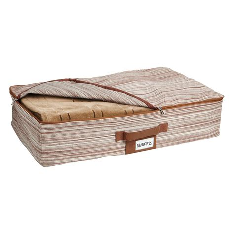 container store under bed storage brown under bed artisan crunch storage bag by umbra the