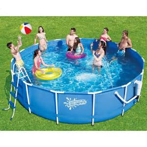 Awesome Pools Backyard Deal Summer Escapes 14 X 42 Metal Pool Set At