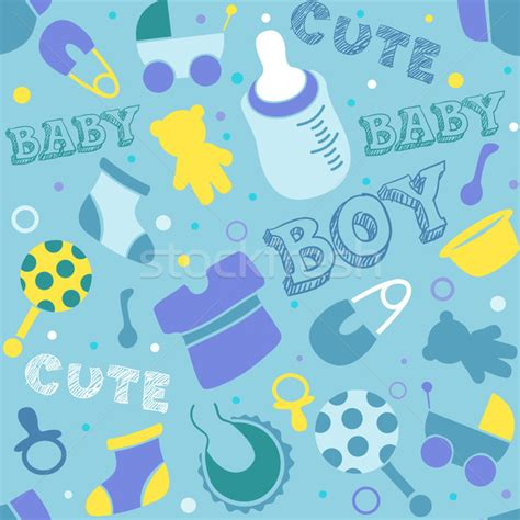 Wallpaper Cartoon Baby Boy | baby boy background vector illustration 169 lenm 901959