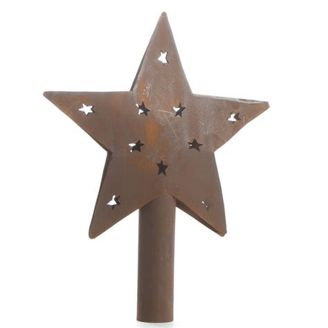 primitive rusty barn star tree topper christmas trees