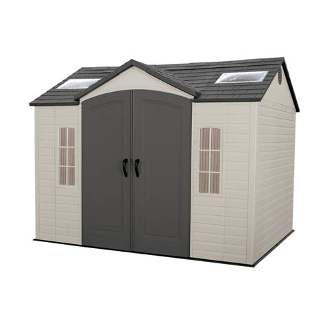 shop lifetime products gable storage shed common  ft
