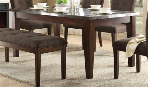 Homelegance Dining Table Homelegance Dorritt Dining Table Bluestone Marble Top Cherry 5281 64 At Homelement
