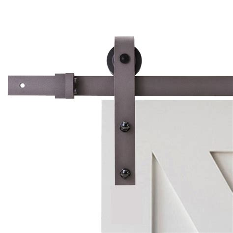 Calhome 79 In Classic Bent Strap Barn Style Sliding Door Track Barn Door Hardware