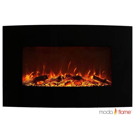Curved Fireplace by Moda Chelsea 35 Quot Curved Black Mounted Fireplace