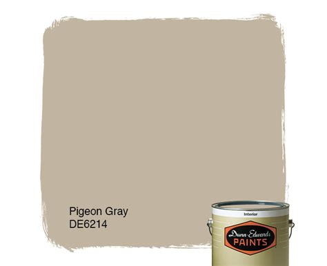 pigeon gray de6214 dunn edwards paints